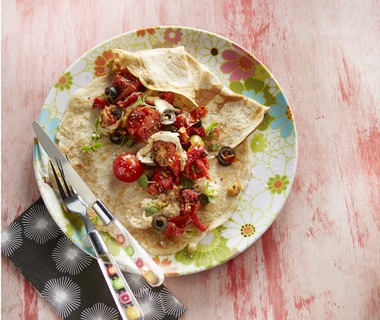 Italiaanse pannenkoek met olijven