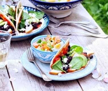 Feta-avocadowrap, naar idee van Lisette
