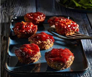Gehaktmuffins met sticky glaze