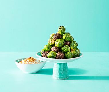 Roerbakspruitjes met gehaktballetjes