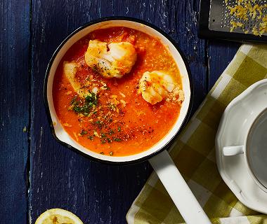 Tasty vissoep met saffraan en quinoa
