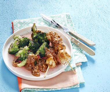 Broccoli uit de oven met pindasaus