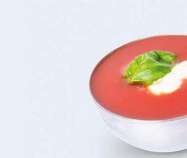 Zoete tomatensoep met bastognekoek