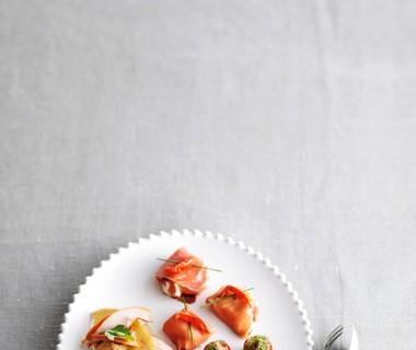 Ham met sinaasappel-ricottavulling