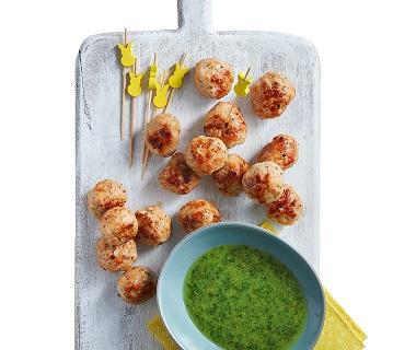 Kipgehaktballetjes met salsa verde