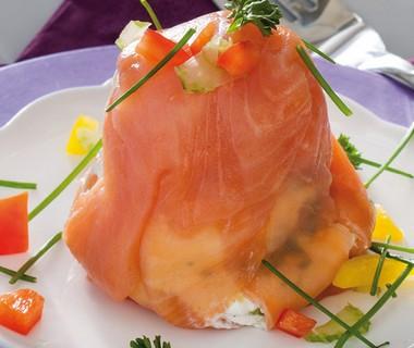 Terrine van zalmfilet, avocado en groenten van René Pluijm