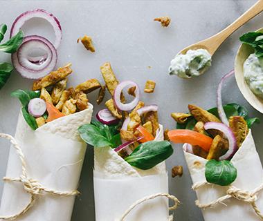 Wraps met tzatziki en Kip-Shoarma (vegan)