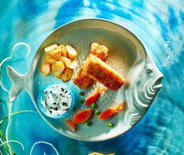 Homemade vissticks met zeemeermin-mayo