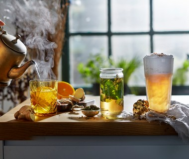 Gember-sinaasappelthee met honing