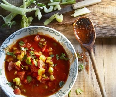 Krachtige tomatensoep