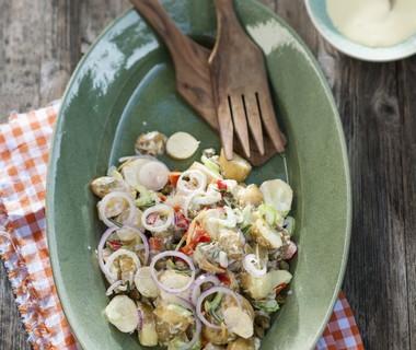 Aardappelsalade met crunchy groenten van René Pluijm