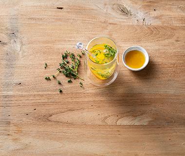 Tijm en sinaasappelthee