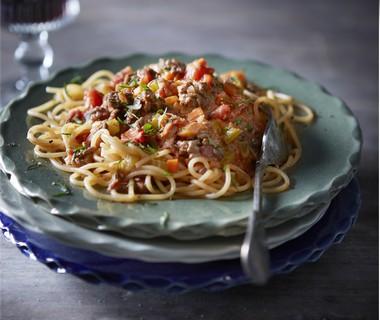 Ragù alla bolognese met spaghetti
