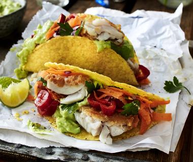 Taco's met lekkerbekjes