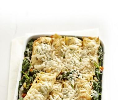 Italiaanse spinazierolletjes uit de oven