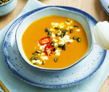 Frisse wortel gember soep