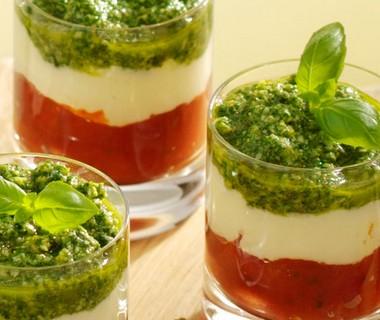 Salade caprese in een glaasje!