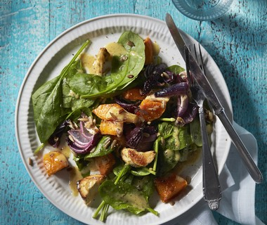 Salade van geroosterde wintergroenten