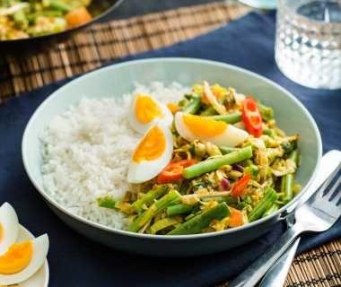 Romige vegetarische nasi