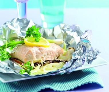 Zalm-groentepakketje uit de oven