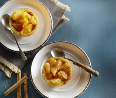 Geroosterde sinaasappel met kaneel