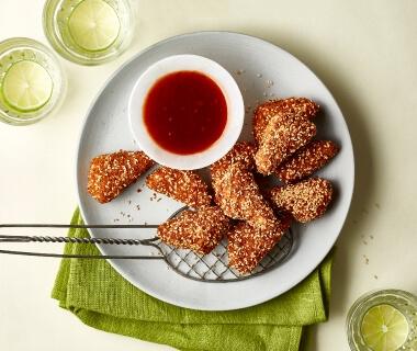 Tofu-nuggets met sesamzaad