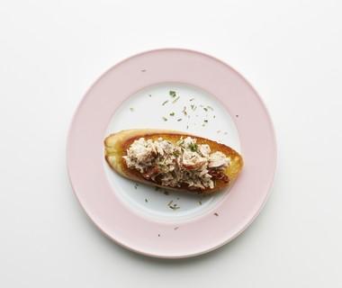 Stokbrood met tonijn en tomaat