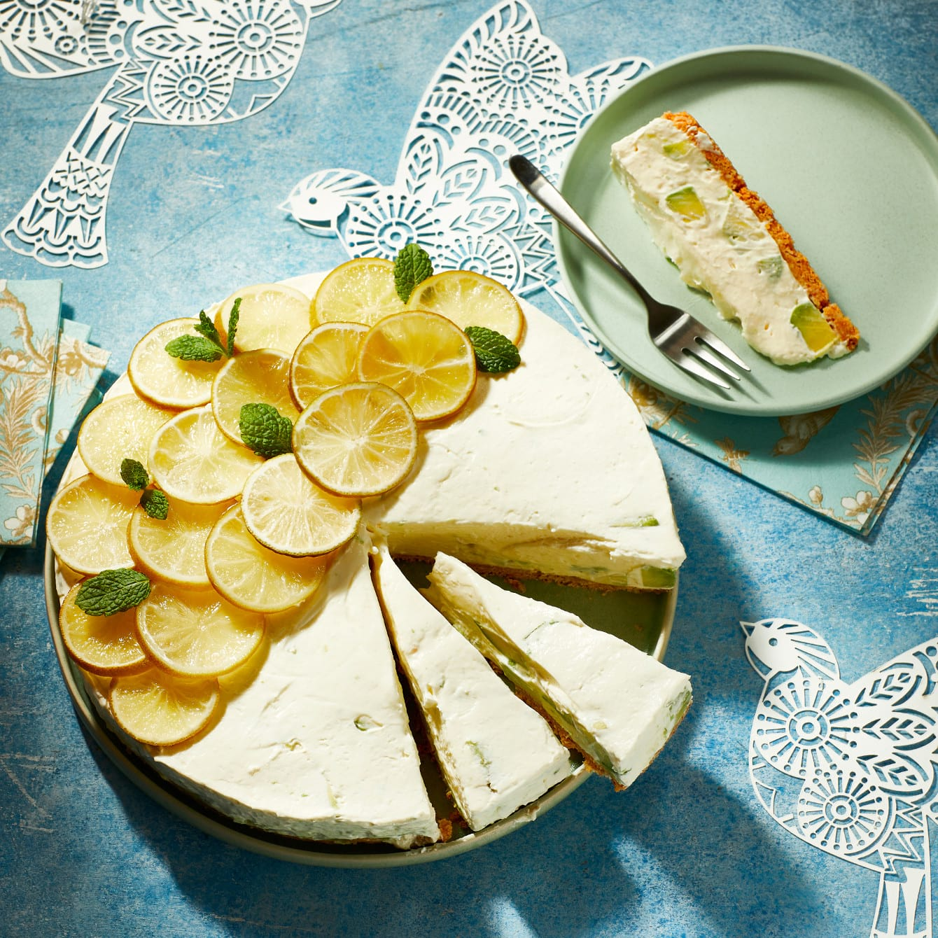 Avocado-cheesecake met cantuccini