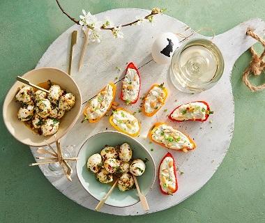 Snackpaprika's met kruidenricotta
