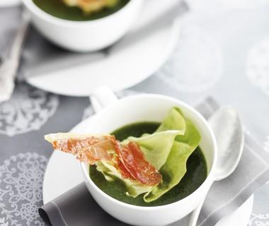 Kropsla-soep met krokante parmaham