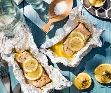 Kruidig vispakketje met citroen