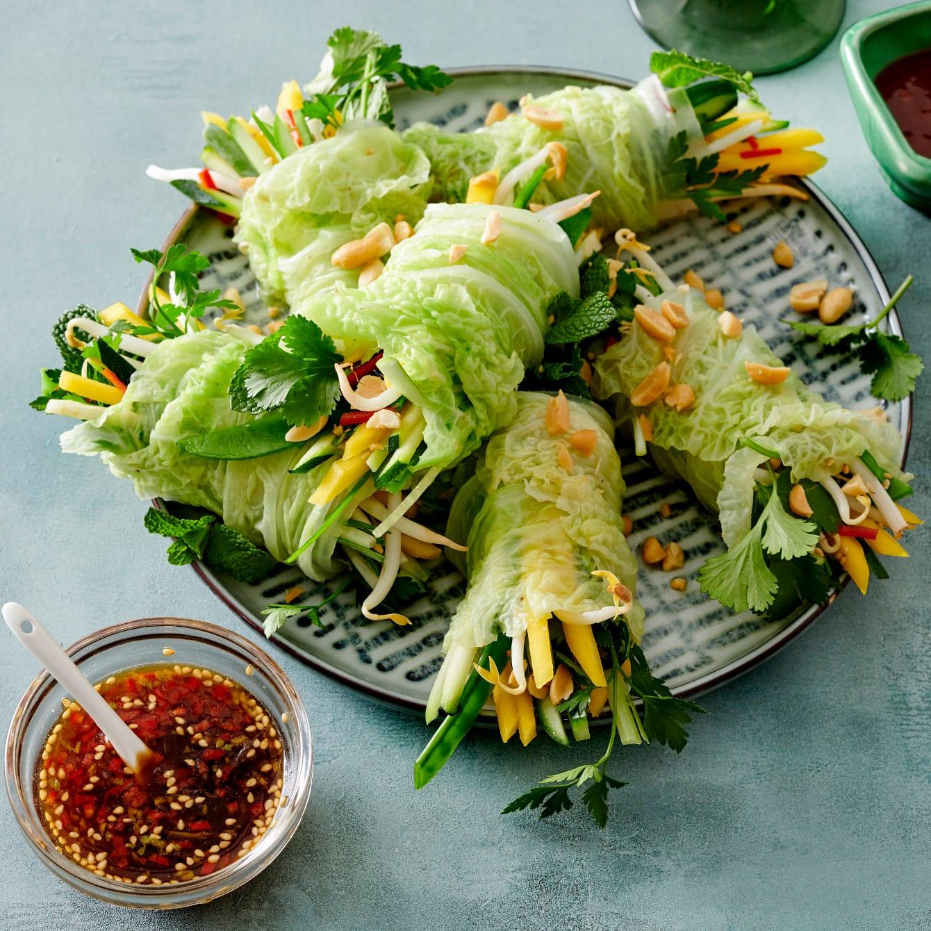 Fris groentenrolletje
