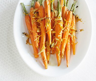 Geroosterde worteltjes met gemberolie