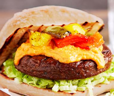 Spicy vegetarische burger