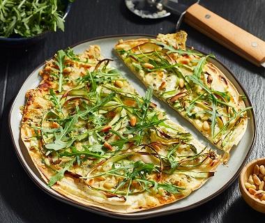 Asperge-tortillapizza