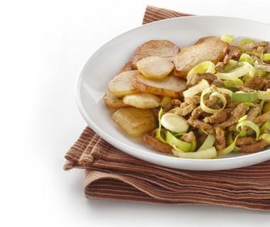 Gebakken aardappelen met shoarma
