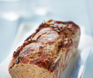Amerikaans gehaktbrood in spek