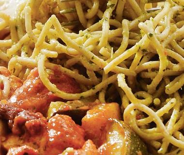 Spaghetti Pollo Pesto