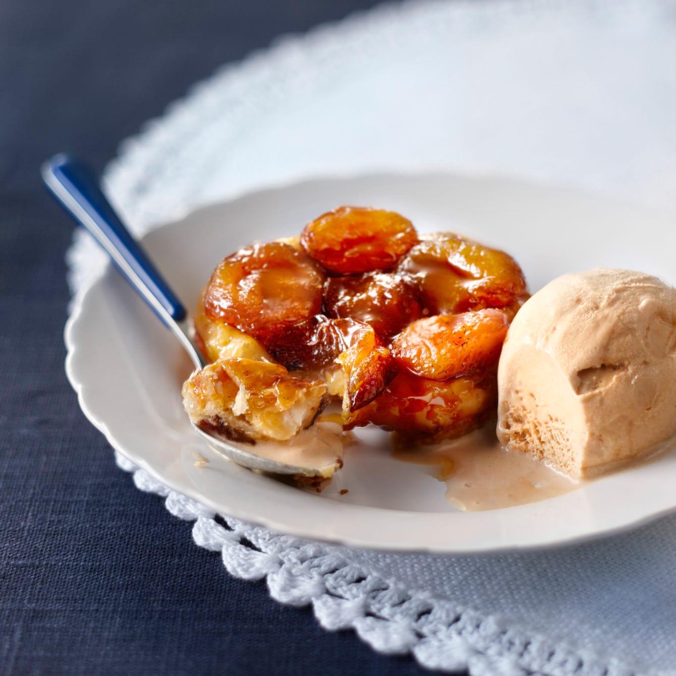 Tarte Tatin met abrikozen en vanille
