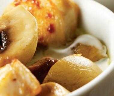 Stoofpotje van kip, champignons en Creme de Brie
