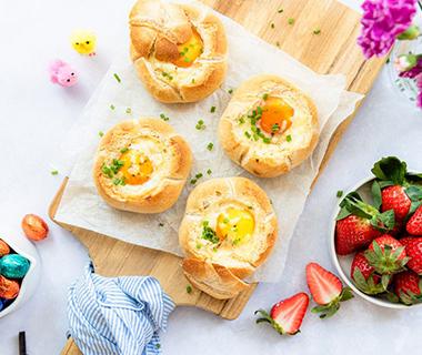 Broodje gevuld met ei van Eef Kookt Zo