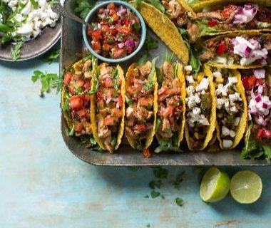 Taco's met kruidige varkenshaas