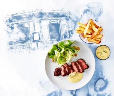 Steak frites met bearnaisesaus