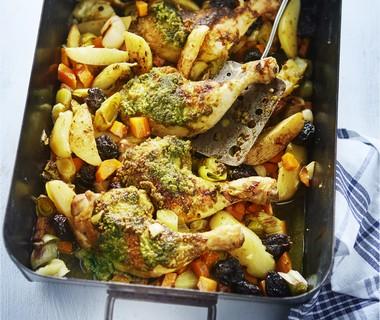 Marokkaanse kip uit de oven