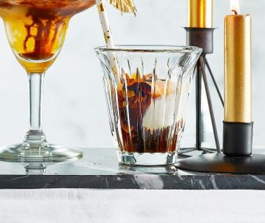 Espresso met vanille-koffiesiroop