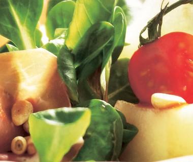 Meloensalade met parmaham
