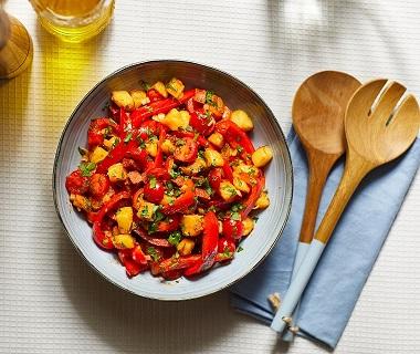Aardappelsalade met chorizo en paprika