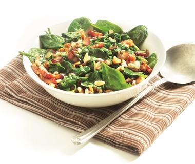 Catalaanse spinazie uit de wok