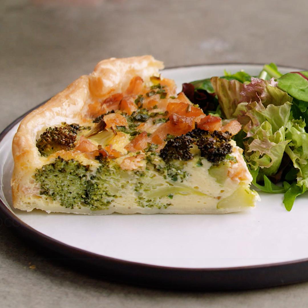 Broccoli-zalm taart