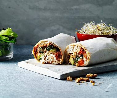 Vega zwarte bonen & geitenkaas burrito's
